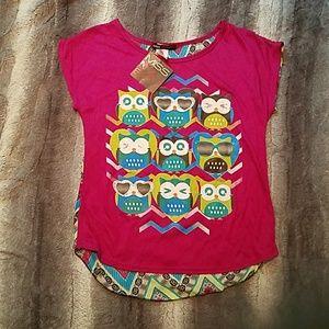 Other - Girls Lightweight owl shirt size 10/12